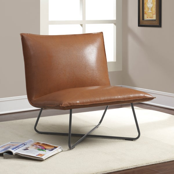 Leather safari chair - Saddle Brown Pillow Lounge Chair Free Shipping Today