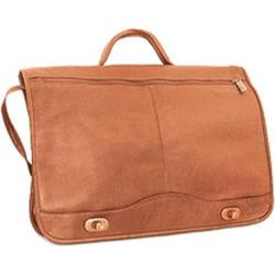 David King Leather 177 Full Flap Over Briefcase Tan