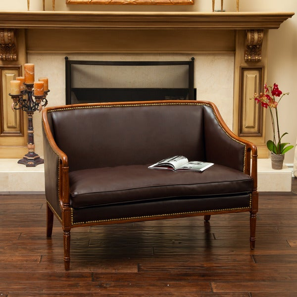 Norwalk Wood Frame Loveseat by Christopher Knight Home. Opens flyout.
