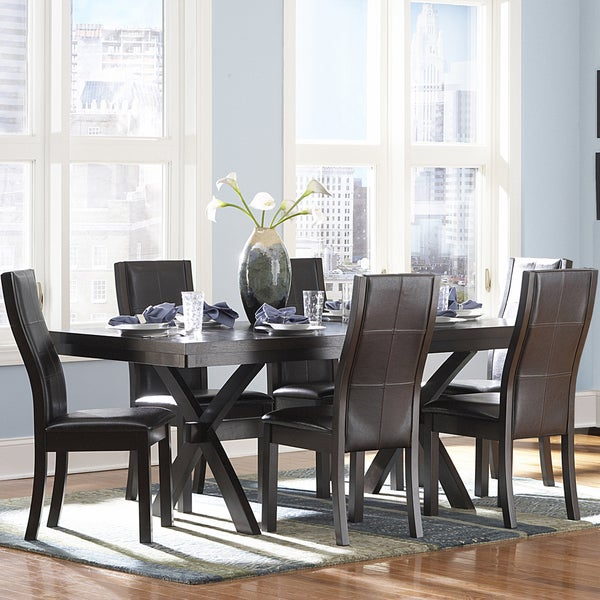 TRIBECCA HOME Dartford Espresso Dining Table. Opens flyout.