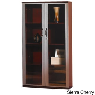 Mayline Napoli 68-inch Wall Cabinet with Glass Doors