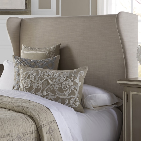 Shop Wingback Cream Queen Size Upholstered Headboard On