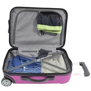 Traveler's Choice Rome 4-piece Hardside & Soft Carry-on Rolling Luggage Set