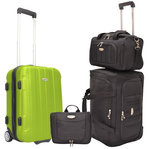 Traveler's Choice Rome 4-piece Hardside & Soft Carry-on Rolling Luggage Set