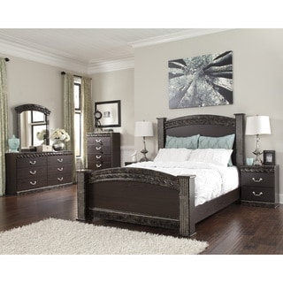 Signature Design by Ashley Vachel Dark Brown Poster Bed