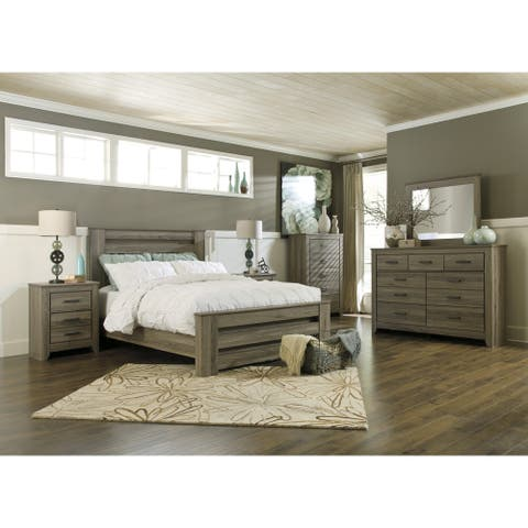Signature Design by Ashley Zelen Warm Grey Poster Bed