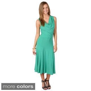 Timeless Comfort by Journee Women's Sleeveless Cowl Neck Dress