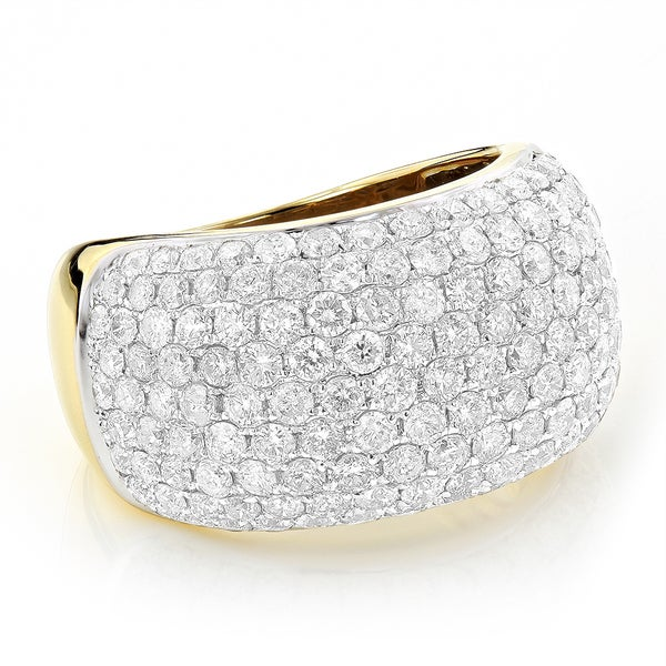 Luxurman 14k Gold 4 2/5ct Pave-set Round-cut White Diamond