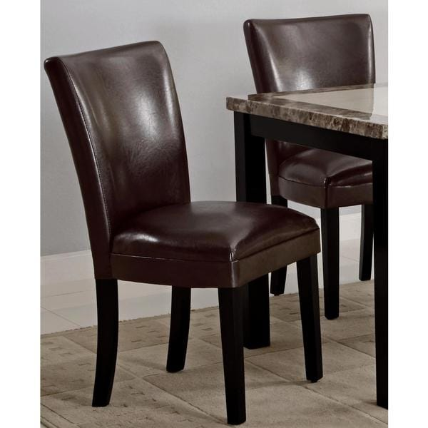 Shop Moritz Brown Parson Dining Chairs (Set of 2) - Free ...