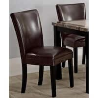 Moritz Brown Parson Dining Chairs (Set of 2)