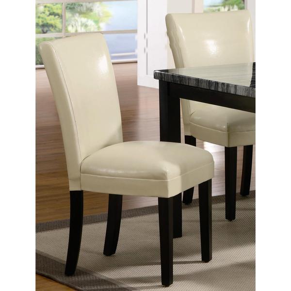 Moritz Cream White Parson Dining Chairs (Set of 2)