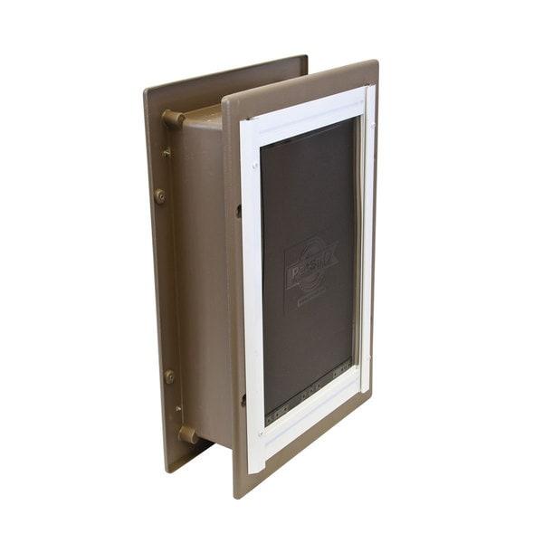 Shop Petsafe Smoke Aluminum Wall Entry Pet Door Free Shipping