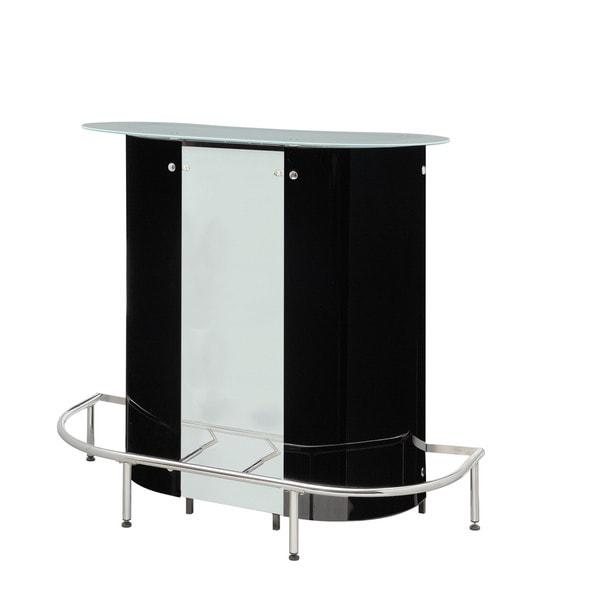 Overstock Bar Table: Coaster Company Black/ White Contemporary Bar Table