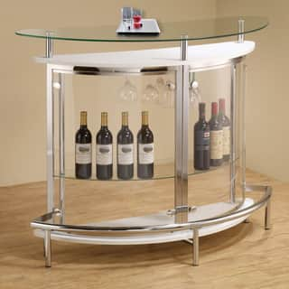 Coaster Company Contemporary White Bar Unit|https://ak1.ostkcdn.com/images/products/9366366/P16557999.jpg?impolicy=medium