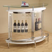 Silver Orchid Bird Contemporary White Bar Unit