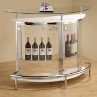 Coaster Company Contemporary White Metal Bar Unit
