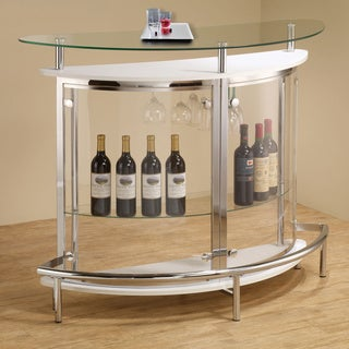 Coaster Company Contemporary White Bar Unit