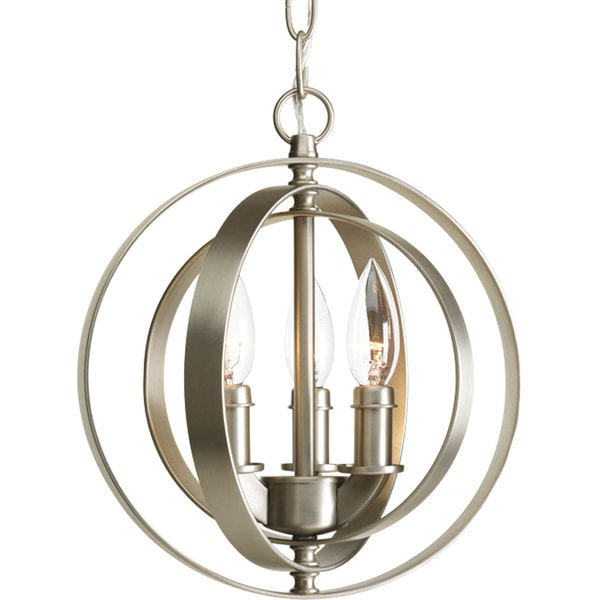 Progress Lighting 3 Light Sphere Pendant Lighting Fixture