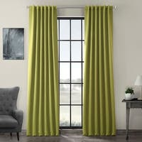 Exclusive Fabrics Green Rod Pocket and Back Tab Blackout Curtain Panel Pair