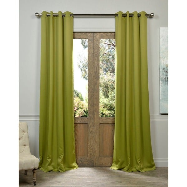 Exclusive Fabrics Green Grommet Top Blackout Curtain Panel Pair Free Shipping Today