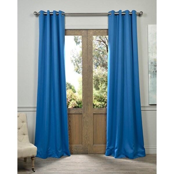 Shop Exclusive Fabrics Royal Blue Grommet Top Blackout