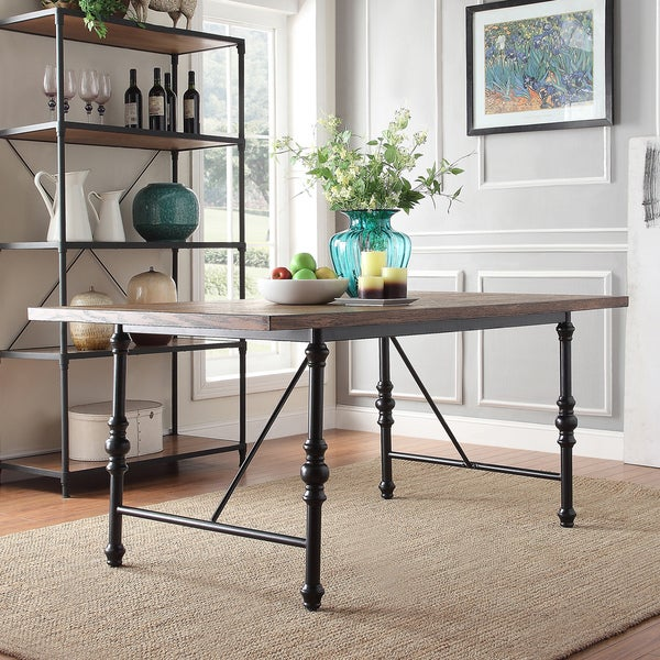 Nelson Industrial Modern Metal Dining Table By INSPIRE Q Classic