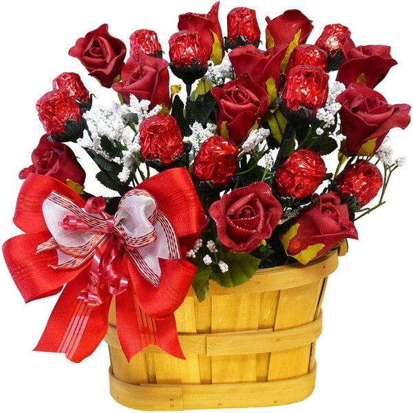 Discontinued~Sweetheart Chocolate Rose Candy Bouquet
