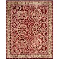 Safavieh Handmade Anatolia Oriental Red/ Ivory Hand-spun Wool Rug - 8' x 10'
