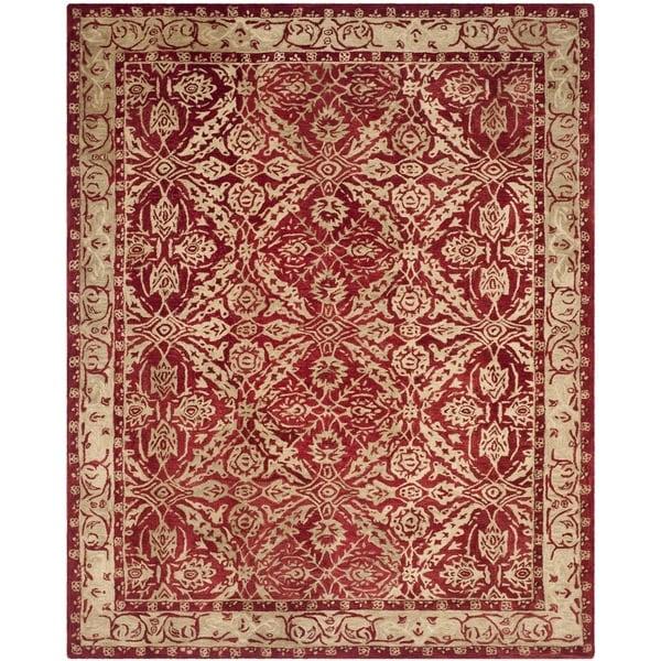 Safavieh Handmade Anatolia Oriental Red/ Ivory Hand-spun Wool Rug (8' x 10')