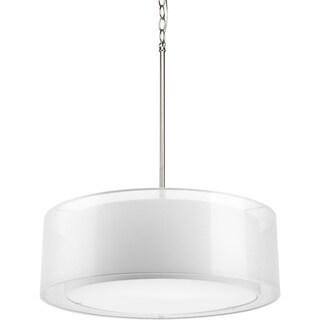 Progress Lighting 3-light Mylar Drum Pendant Lighting Fixture
