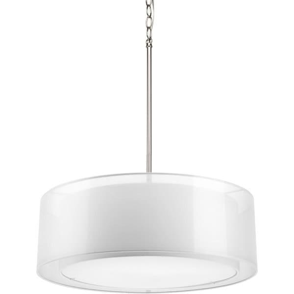 drum pendant lighting fixtures. Progress Lighting 3-light Mylar Drum Pendant Fixture Drum Pendant Lighting Fixtures A