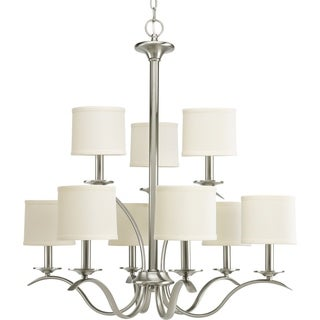 Progress Lighting Inspire Collection 9-Light Brushed Nickel Chandelier Lighting Fixture