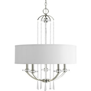 Progress Lighting Nisse Collection 5-Light Polished Nickel Pendant Chandelier Lighting Fixture