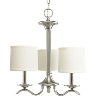 Progress Lighting Inspire Collection 3-Light Brushed Nickel Chandelier Lighting Fixture