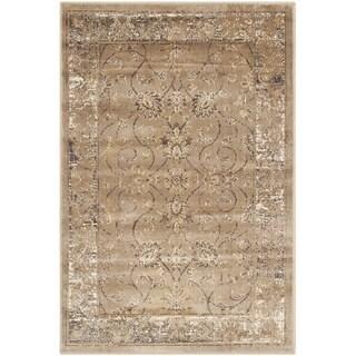 Safavieh Vintage Oriental Taupe Distressed Silky Viscose Rug (3'3 x 5'7)