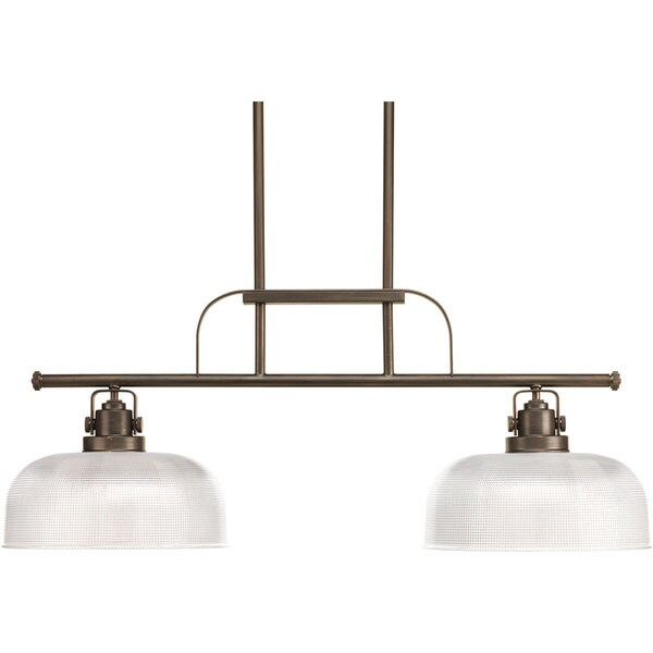Progress Lighting Archie Collection 2-Light Venetian Bronze Chandelier Lighting Fixture