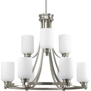 Progress Lighting Orbitz Collection 9-Light 6+3 Brushed Nickel Chandelier Lighting Fixture