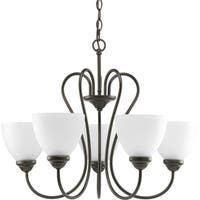 Progress Lighting Heart Collection 5-Light Antique Bronze Chandelier Lighting Fixture