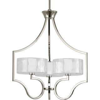 Progress Lighting Caress Collection 3-Light Polished Nickel Chandelier With Bulb Lighting Fixture