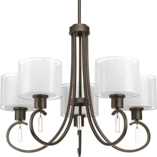 Progress Lighting Invite Collection 5-Light Antique Bronze Chandelier Lighting Fixture
