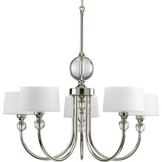 Progress Lighting Fortune Collection 5-Light Polished Nickel Chandelier Lighting Fixture