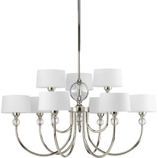 Progress Lighting Fortune Collection 9-Light Polished Nickel Chandelier Lighting Fixture