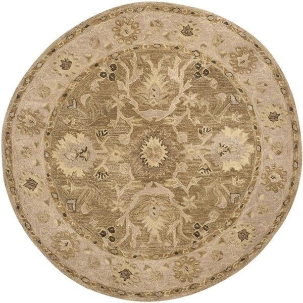6 Round Persian Area Rugs Gold Wool Oriental Carpet: Shop Safavieh Handmade Anatolia Oriental Tan/ Ivory Hand