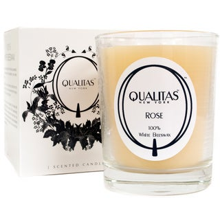 Qualitas 100-percent USP Pharmaceutical White Beeswax Rose Candle
