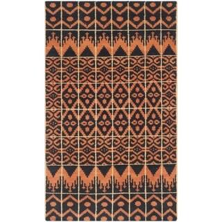 Safavieh Hand-knotted Kenya Orange/ Black Wool Rug (3' x 5')