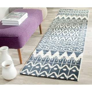 Safavieh Hand-knotted Kenya Charcoal Wool Rug (8' x 10')