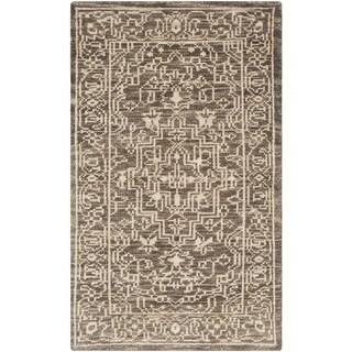 Safavieh Hand-knotted Kenya Brown/ Beige Wool Rug (3' x 5')