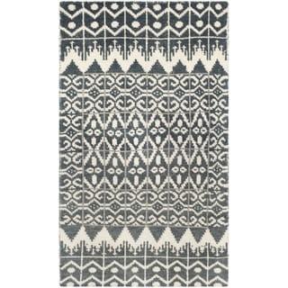 Safavieh Hand-knotted Kenya Charcoal Wool Rug (3' x 5')