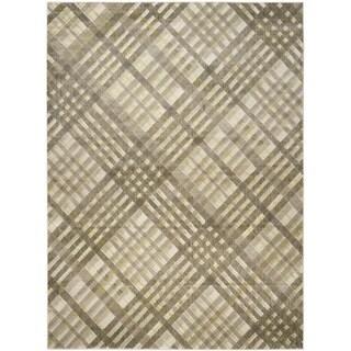 Safavieh Porcello Modern Grey/ Green Rug (8'2 x 11')