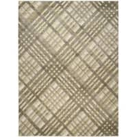 Safavieh Porcello Modern Grey/ Green Rug - 8'2 x 11'